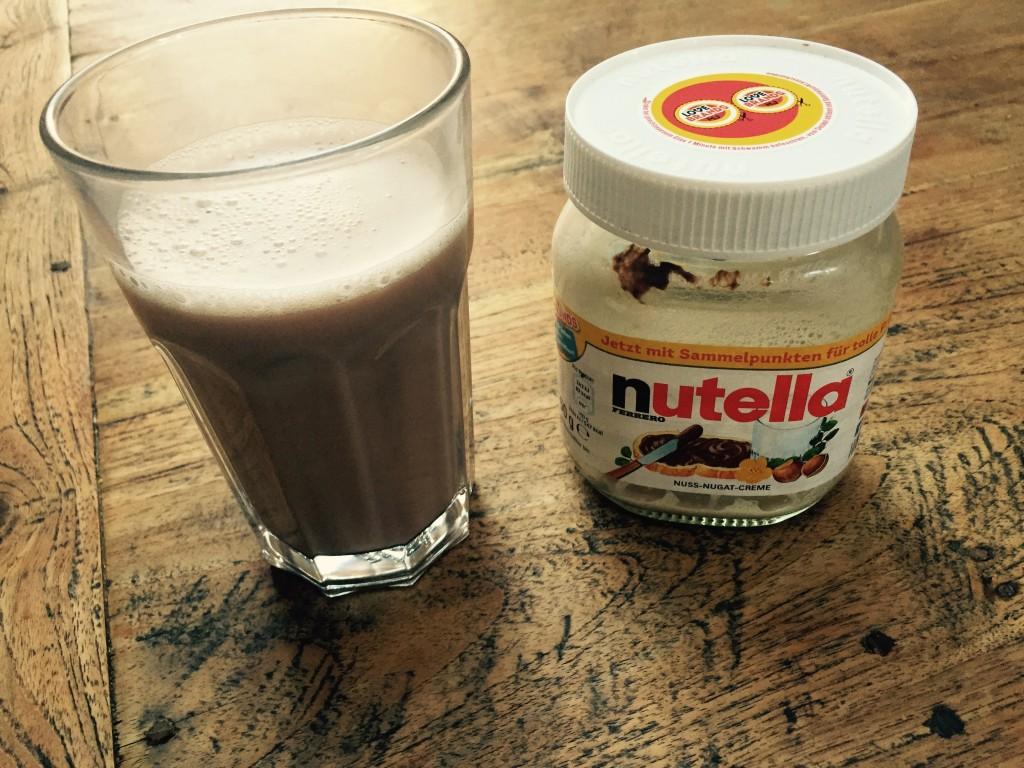 Nutella-Kokosnuss-Shakes