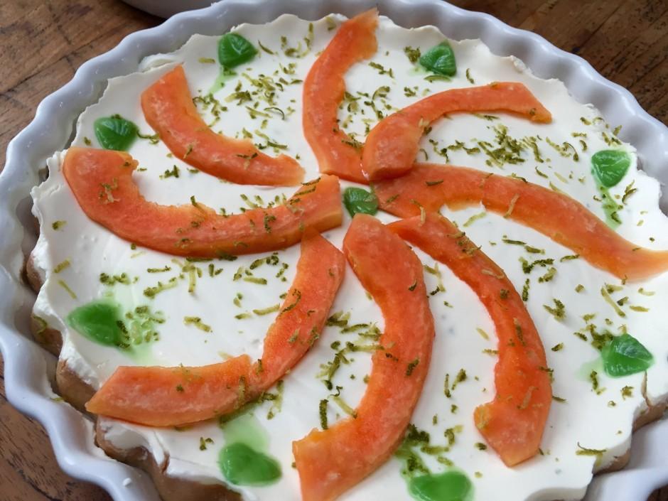 Dinkelmehl Papaya Kuchen