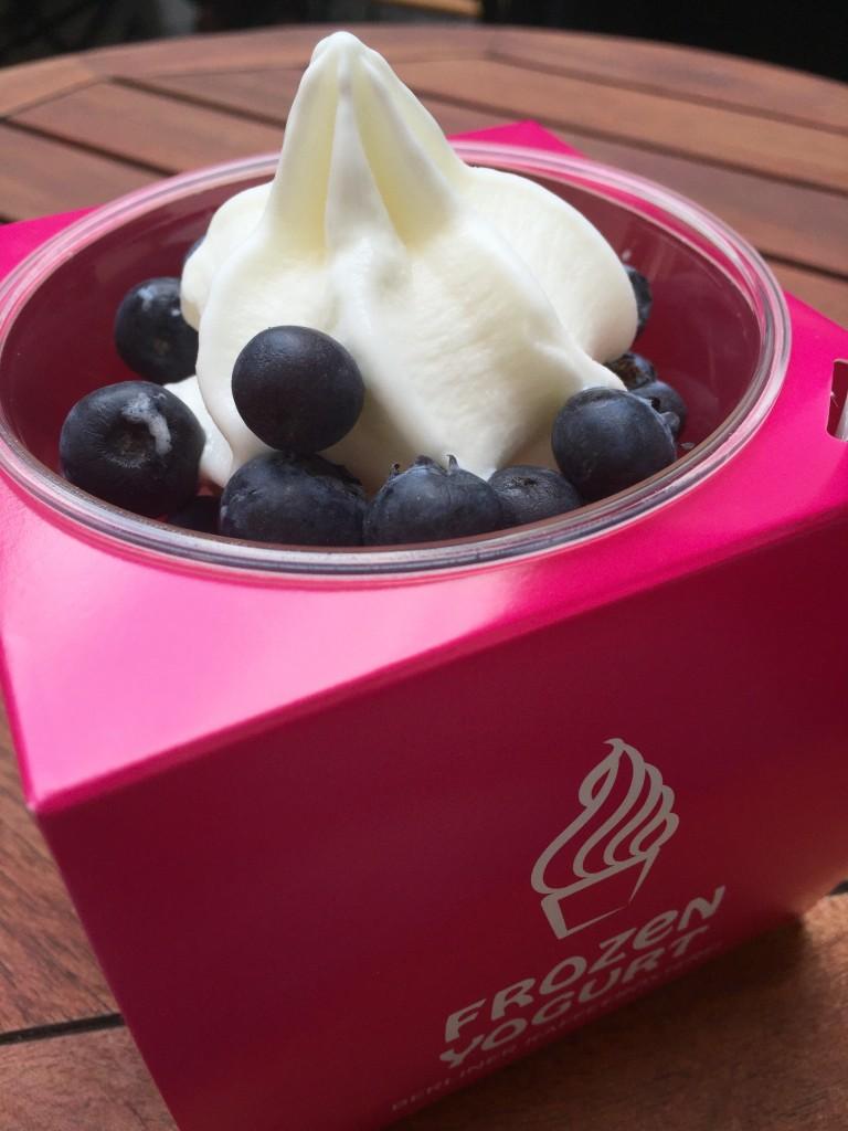 Frozen Yogurt mit Blaubeeren Uhlandstraße