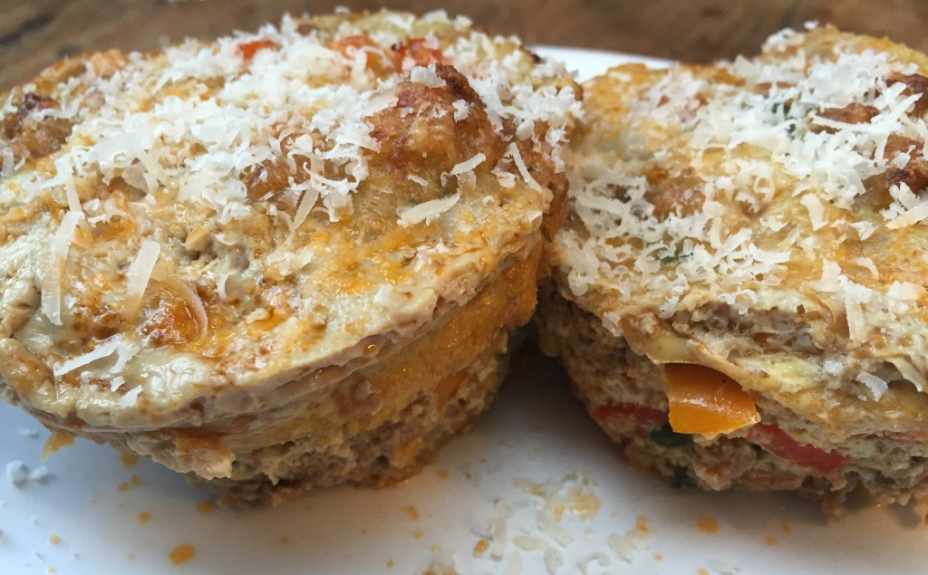 Gehacktes Ei Muffins mit Parmesan