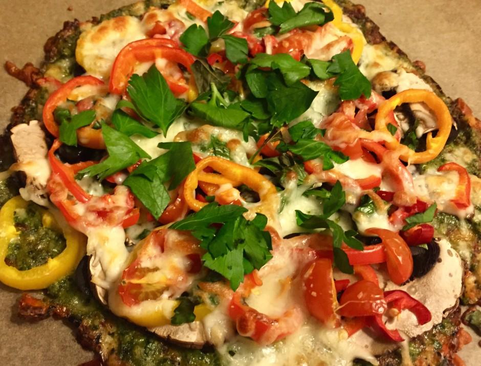 Zucchini Pizza frisch gebacken