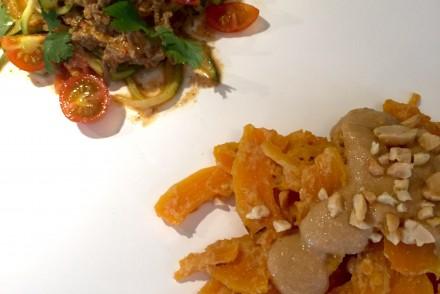 zucchini und butternut pasta