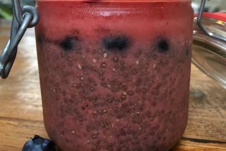 Chia Pudding mit Wassermelone