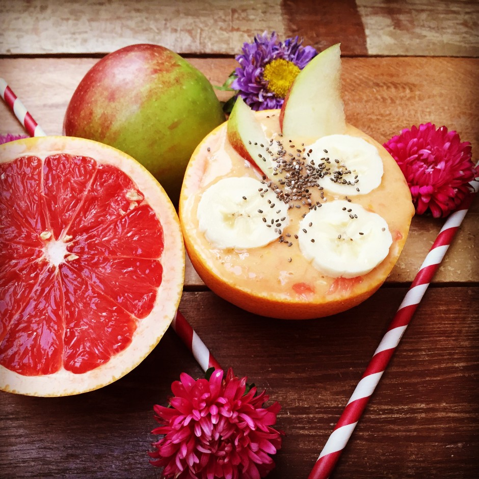 Grapefruitsmoothie mit Chiasamen