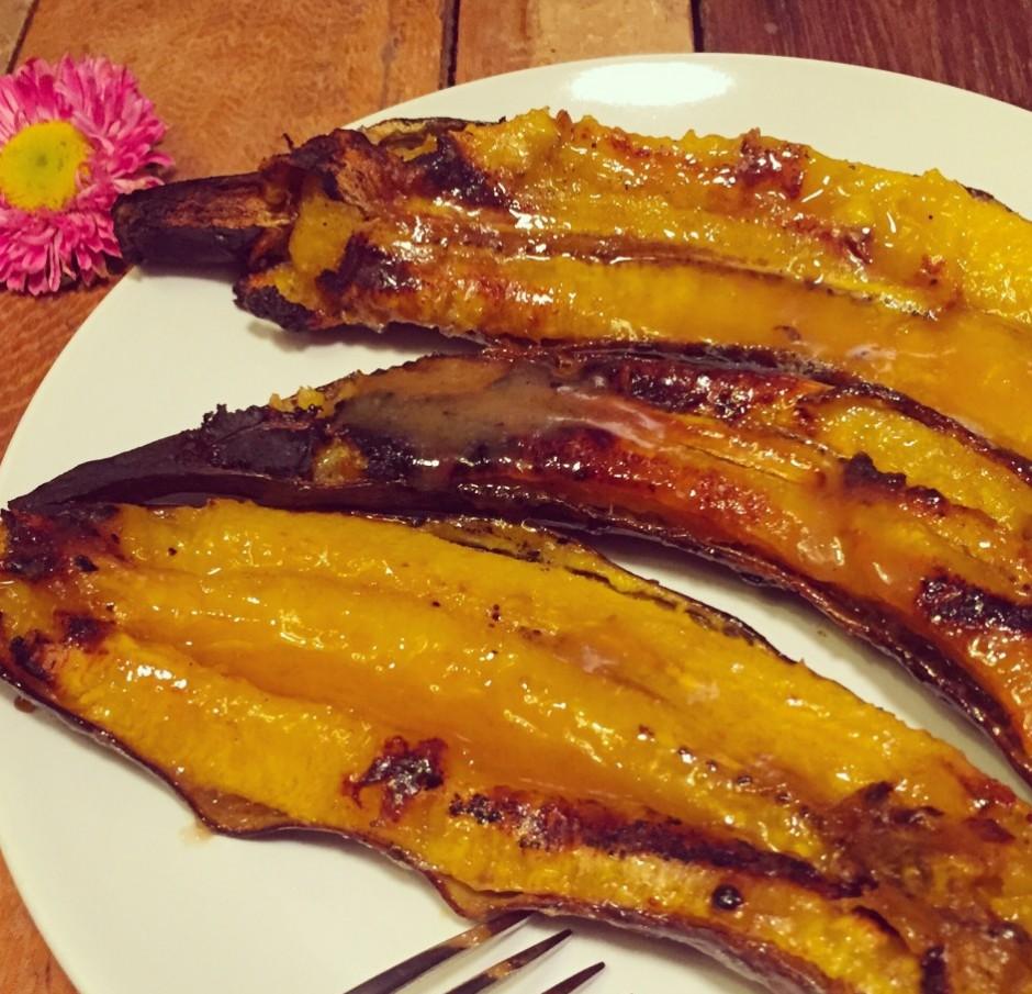 Kochbananen gegrillt mit Sirup