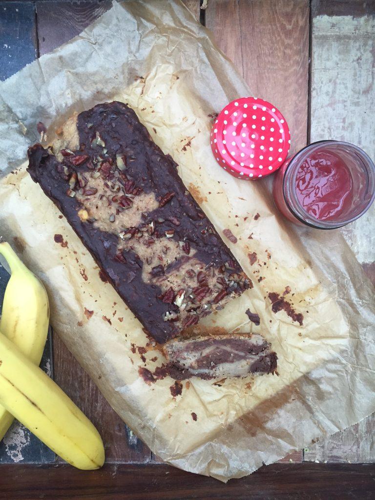 Blackn White Bananenbrot mit Marmelade